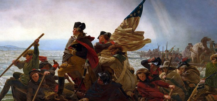 America's Independence changed the world. Washington crossing the Delaware.