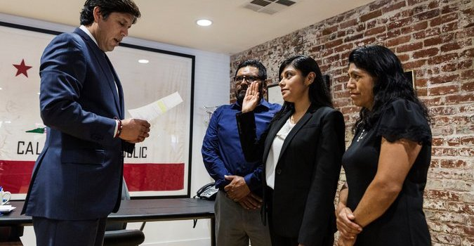 California Naturalization: Ungrateful Illegal Appointed To Government, Illegally