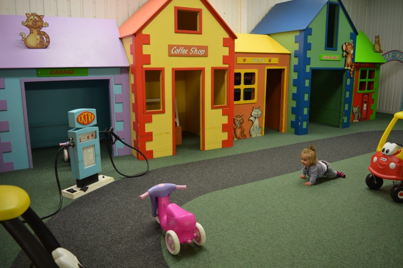 Play houses in the soft play area