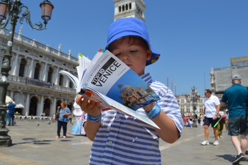 Little boy in venice