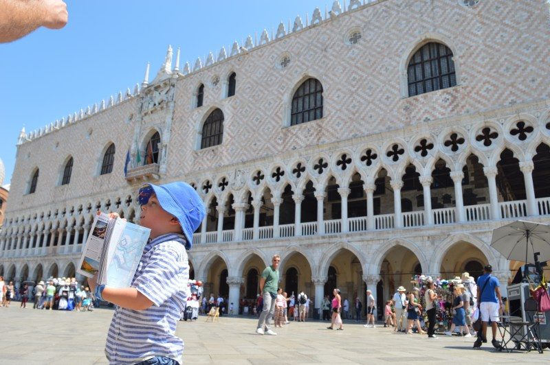 Young boy in Venice