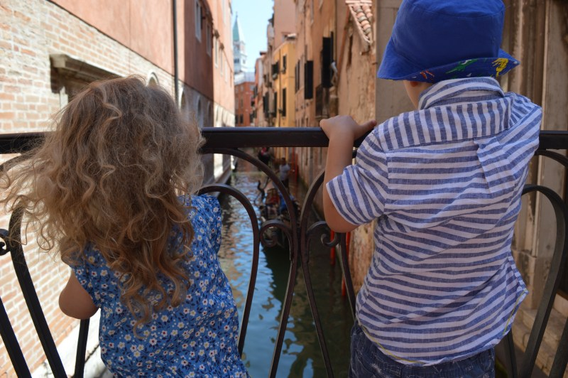 Young children in Venice