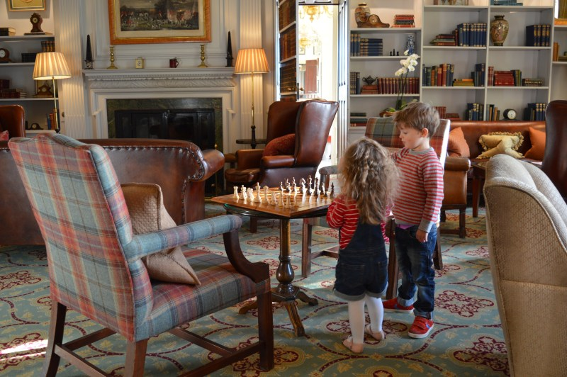 Children at Stapleford Park hotel