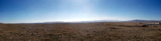 Desolate landscape on the road to Mus