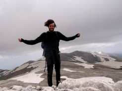 Uludag summit (2543 m.). It was windy there!