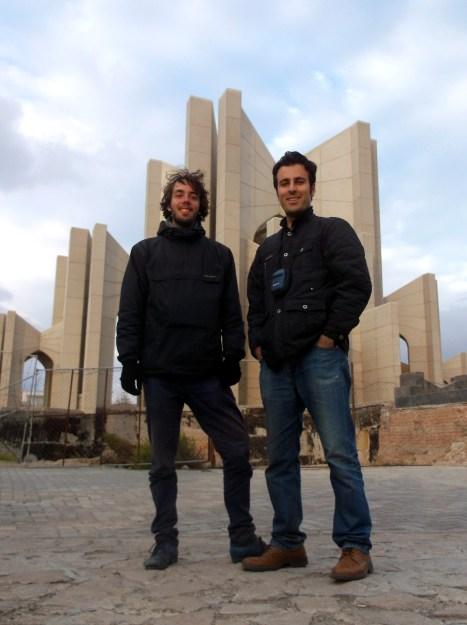 With Behrouz at the Maqbaratoshoara mausoleum in Tabriz