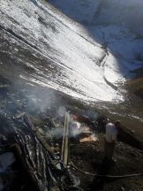 Roadside fire on the chalusroad, Alborz mountains