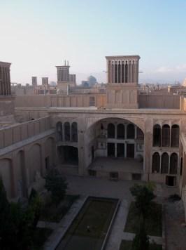 Huge abandoned building complex, Yazd