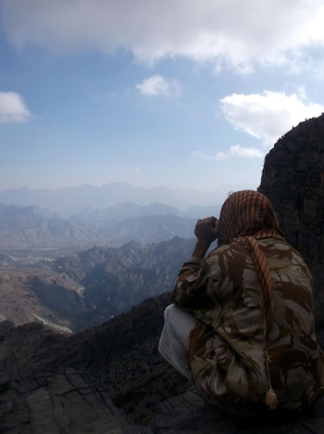 Looking for missing goats, Jebel Shams