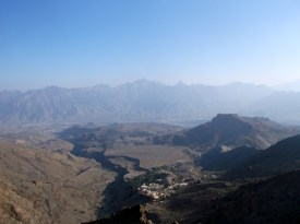 View over Madruj and surroundings, Jebel Shams