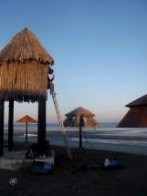 My current address in Oman - a watertower hut on Qurm beach, Muscat