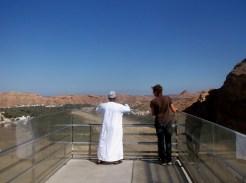 Yusuf showing his village, Wadi Dayqah dam