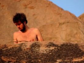Savage on the rocks, Hampi, Karnataka (picture by CAT)