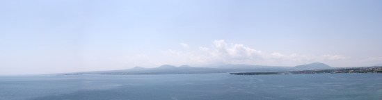 Panorama from Surp Arakelots, Sevan lake