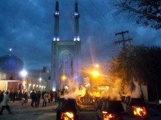 Religious celebration at the Jameh Mosque, Yazd