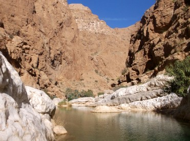 Openair water park made by Nature, Wadi Shab