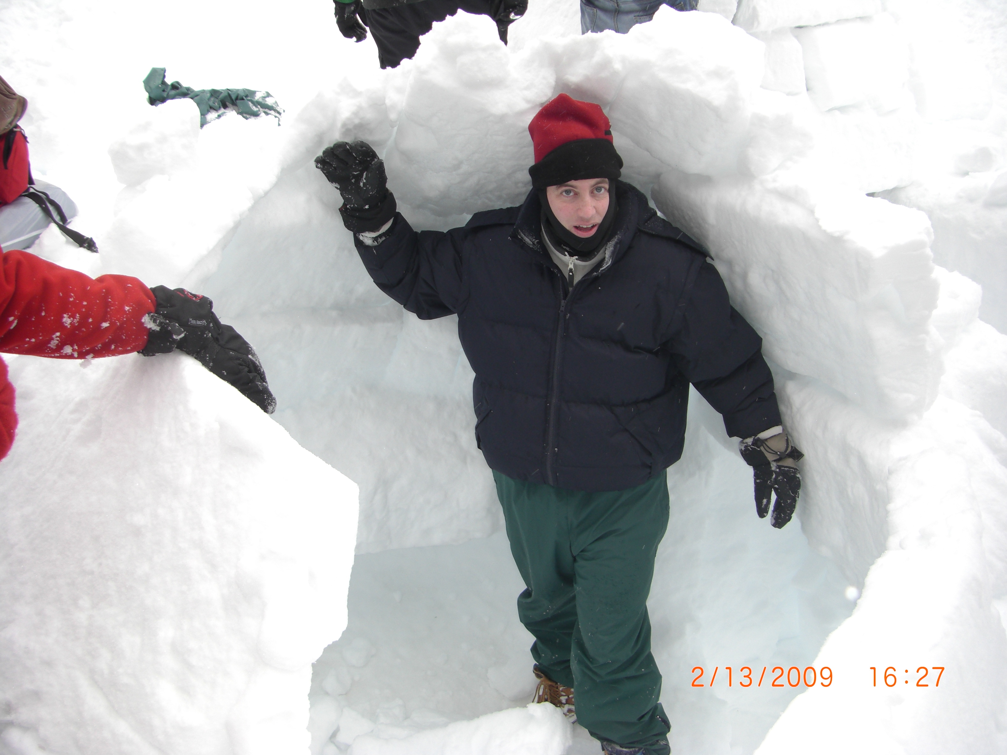Destroying our 7' high igloo