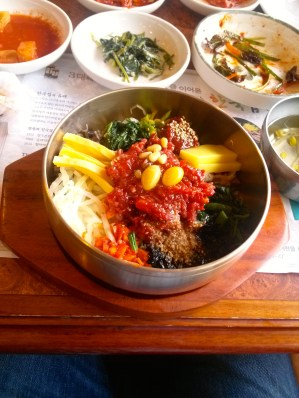 Traditional raw-beef bibimbap in Jeonju, the birthplace of this iconic Korean dish.