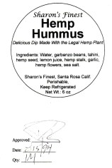 Hemp Hummus Label