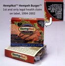 Hempeh Burger, first legal health claim