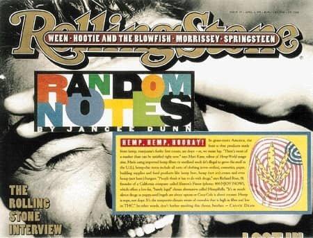 1995: Hemp, Hemp, Hooray; Rolling Stone