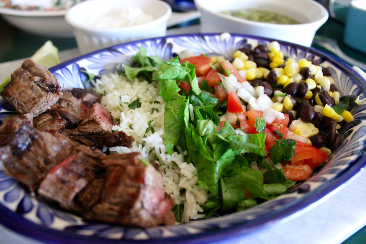 Flank Steak Burrito Bowl