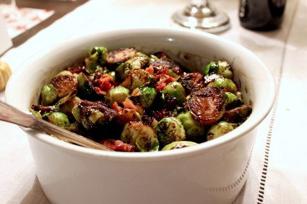 Balsamic Brussels Sprouts with Pancetta