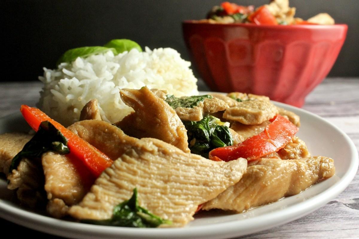 Pad Grapow (Thai Basil Chicken)