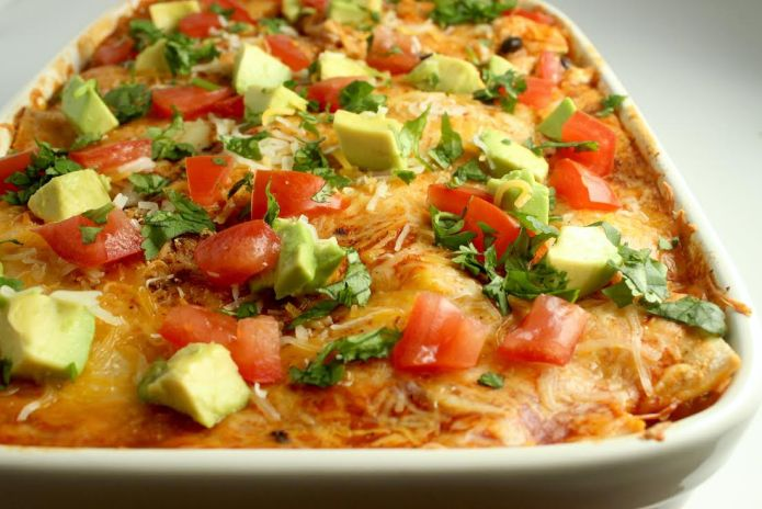 chicken enchilada casserole 1