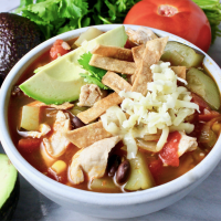 "Our ""Lighter"" Chicken Tortilla Soup"
