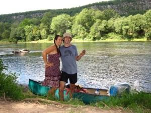 David Gaynes and Jodi.  On an island.