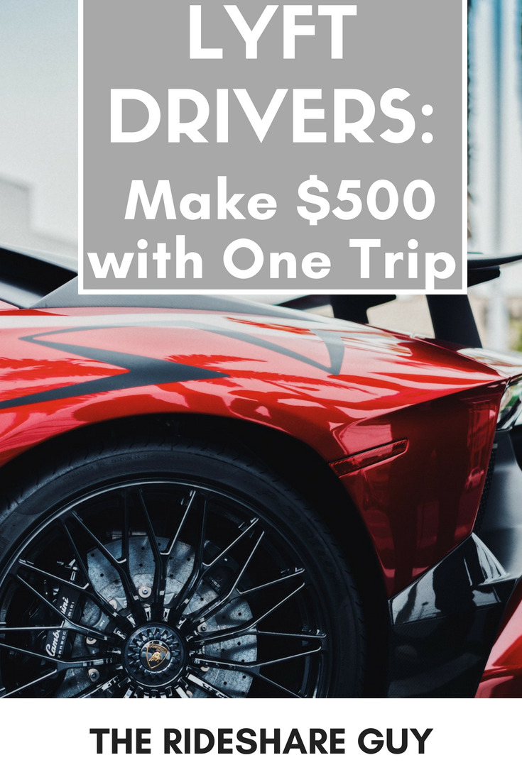 Lyft Drivers: Make $500 with One Trip. They are currently offering $500 to current Lyft drivers who sign up with Uber and give only one ride. #makemoney #Lyft #lyftdrivers #extramoney