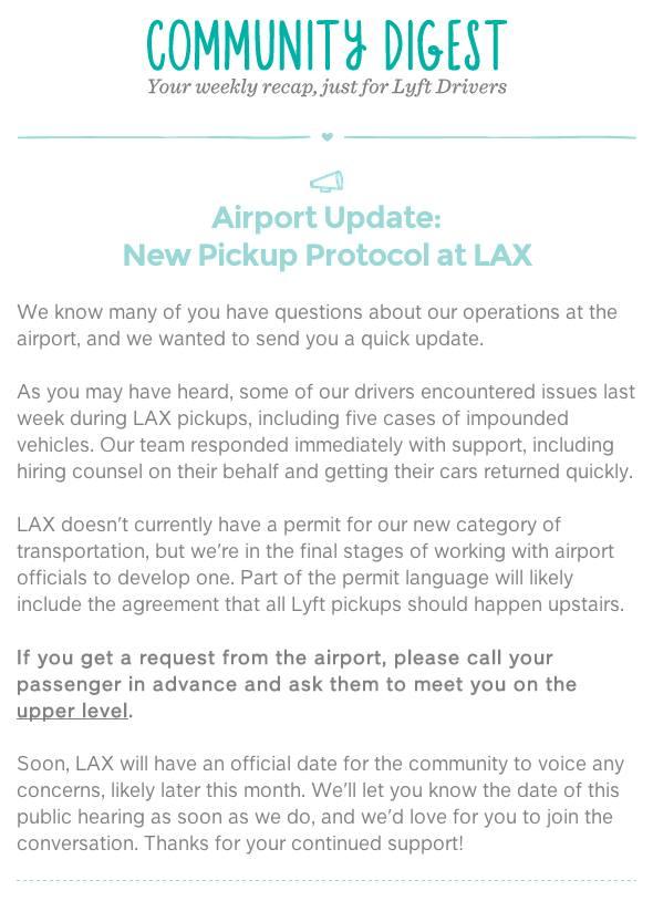 LAX Lyft Pickup Protocol