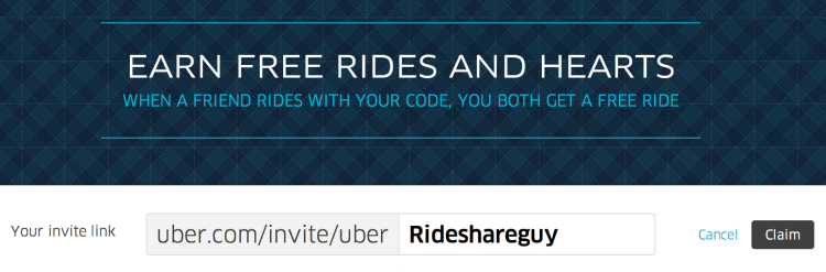 Uber Passenger Referral Code Personalize