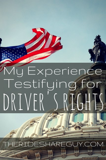 Last week, I testified in front of the Assembly in Sacramento on driver's rights. What I learned about the process and the outcome here!