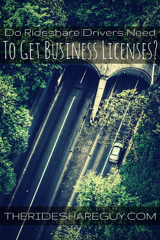 Do Rideshare Drivers Need To Get Business Licenses?