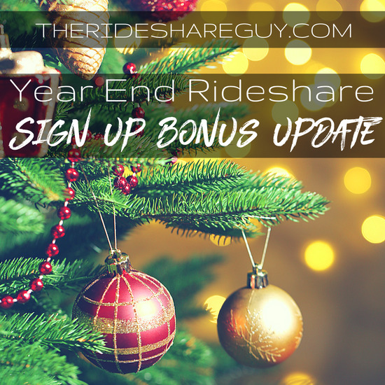 The end of the year means a lot of opportunity for drivers, and not just rideshare anymore! The top year end bonuses for rideshare & delivery companies.