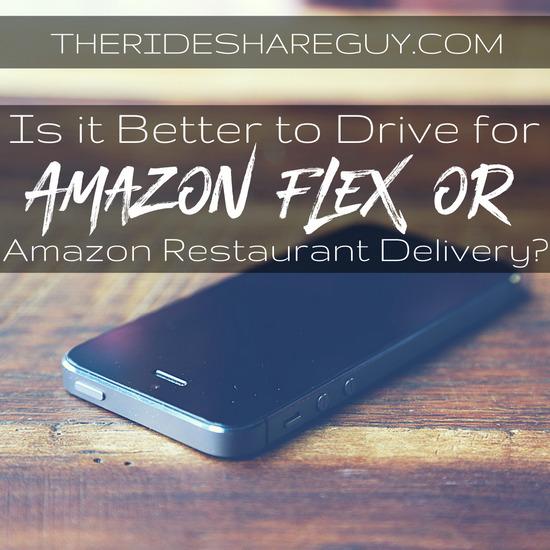 Amazon Flex vs Amazon Restaurant Delivery
