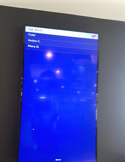 Lyft Hub Waiting Screen