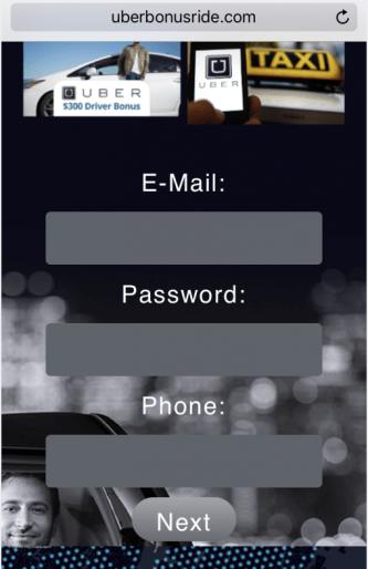 Uber Scam