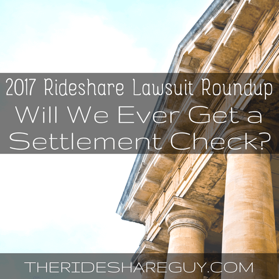 If you've lost track of all the ridesharing lawsuits, you're not alone! Today, Christian Perea summarizes where we are now and when you might see a check -