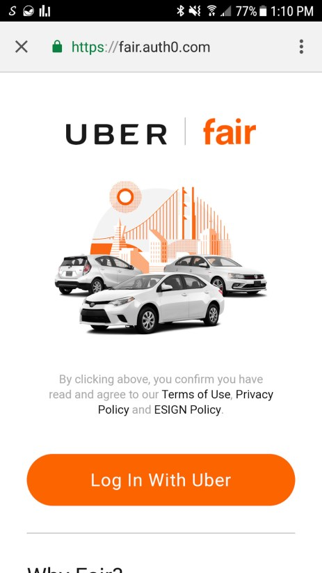 $100 Fair App Promo Code: Rent-A-Car for Uber Drivers