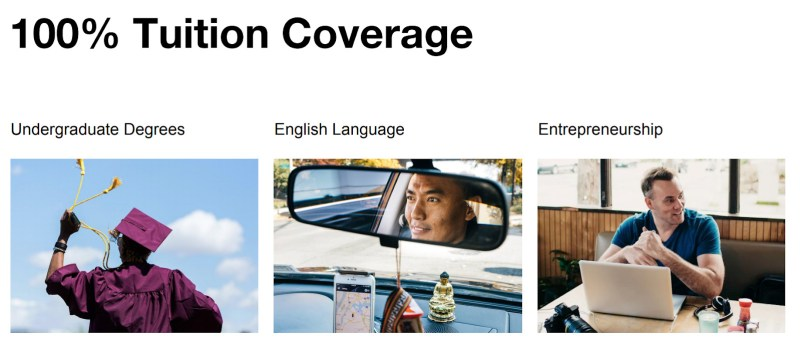 image of tuition assistance Uber Pro