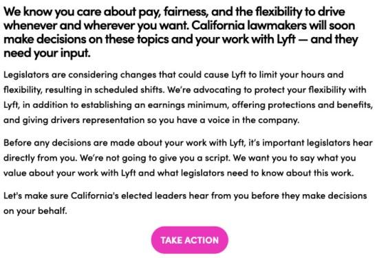 Lyft's response to AB5