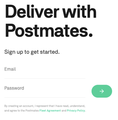 Postmates driver referral code