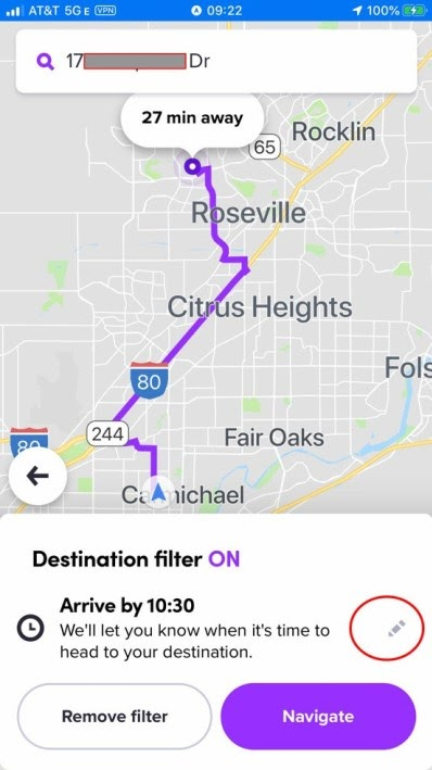lyft destination mode