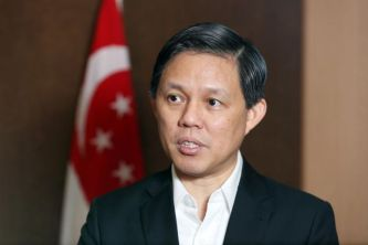 Singapore Minister of Trade and Industry Chan Chun Sing speaking at MEI's annual conference