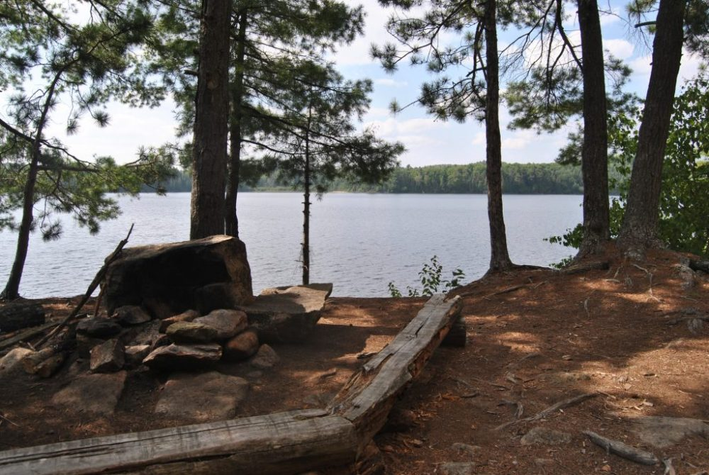 North Tea Lake Campsite on a 5 day canoe trip loop in Algonquin