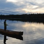 4 day canoe trip in Killarney provincial park - fishing on Balsam Lake