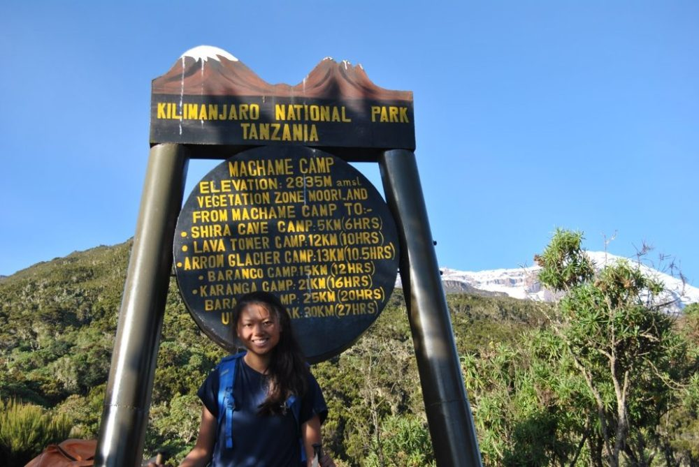 UNIQLO Airism review: this tshirt is my all time favourite tshirt for travel and hiking. Here it is on Kilimanjaro!